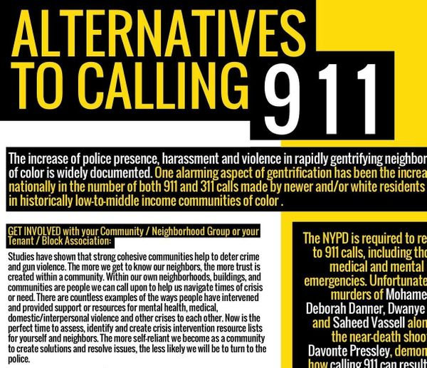 Don't Call The Cops: Equality for Flatbush's Suggestions & Tactics as Alternatives to Calling 911
